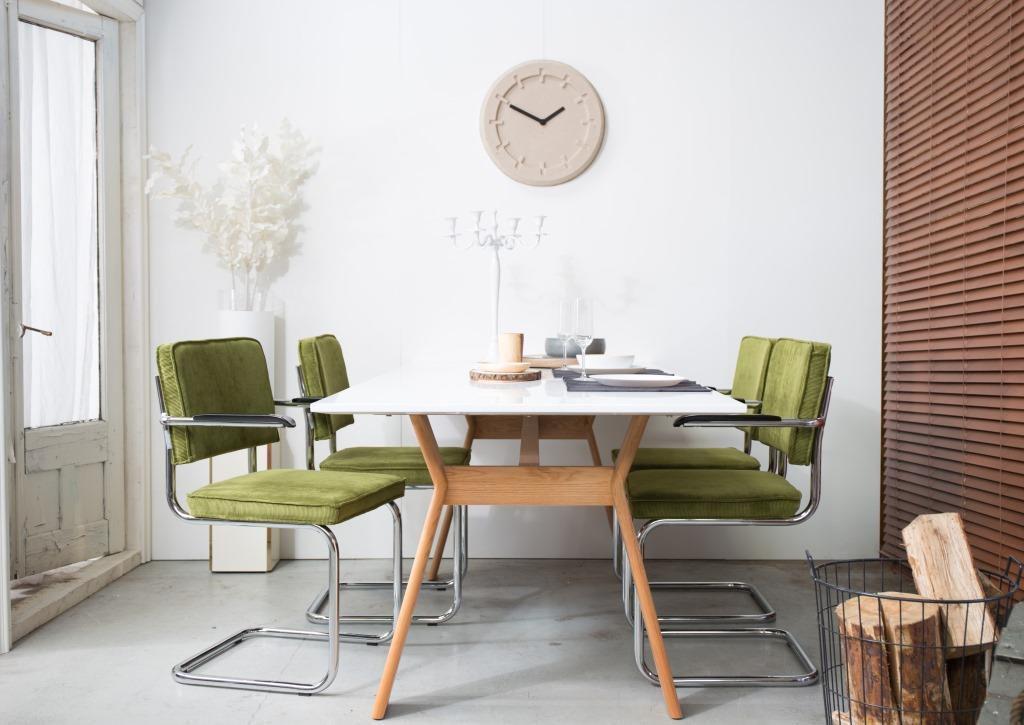 Rib Stoel Groen : Zuiver zuiver freischwinger ridge rib groen designwohnen